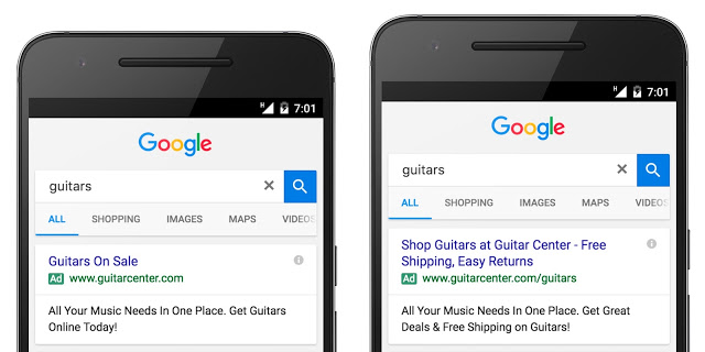 Google Expanded Text Ads Before After Example