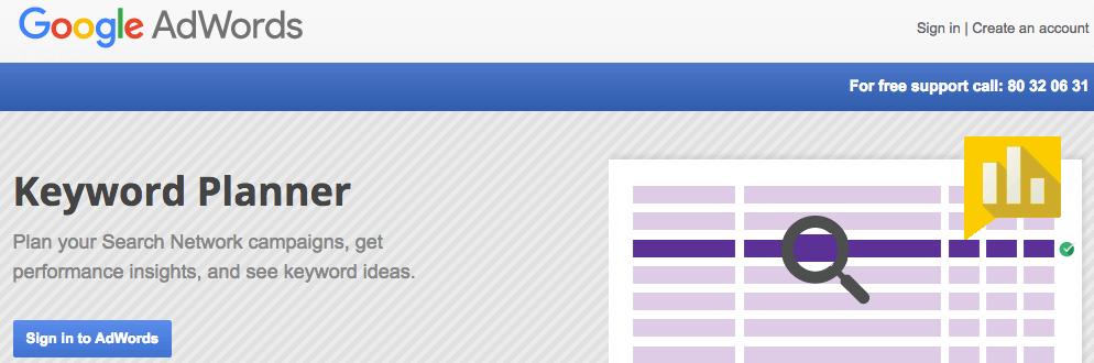 keyword analysis google keyword planner