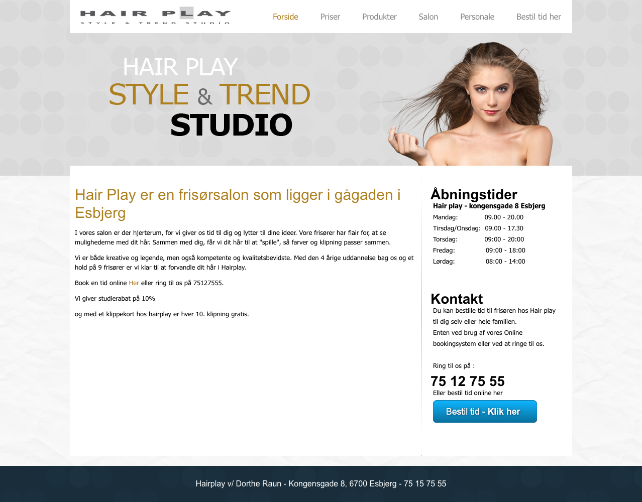 Frisør i Esbjerg - Hairplay frisørsalon i