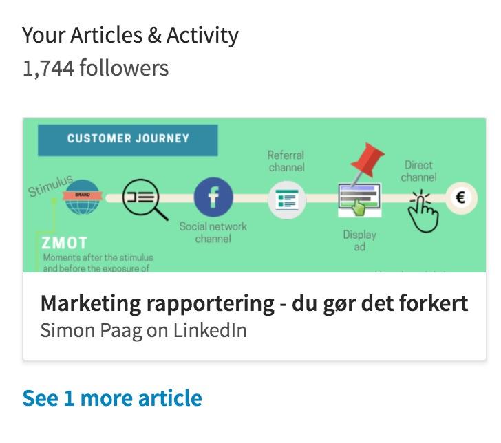 Organix reach LinkedIn publications