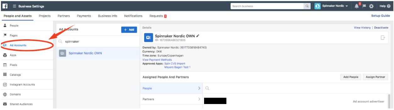 2 1 - Adgang til Facebook-annoncekonto